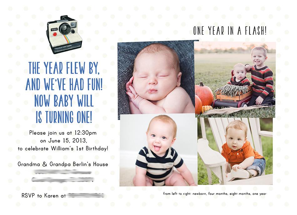 Will's First Birthday Invitation | Bright Autumn Sun